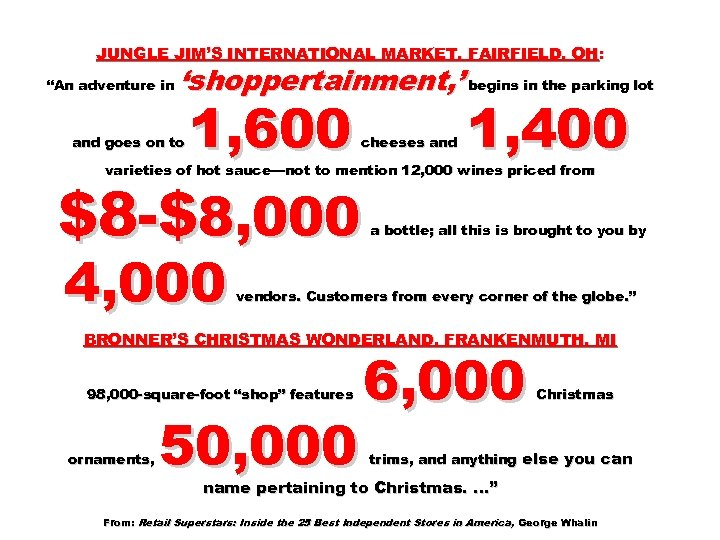 """JUNGLE JIM'S INTERNATIONAL MARKET, FAIRFIELD, OH: """"An adventure in 'shoppertainment, ' begins in the"""