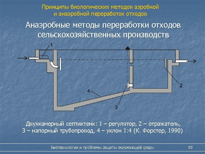 Принципы биологических методов аэробной и анаэробной переработок отходов Анаэробные методы переработки отходов сельскохозяйственных производств