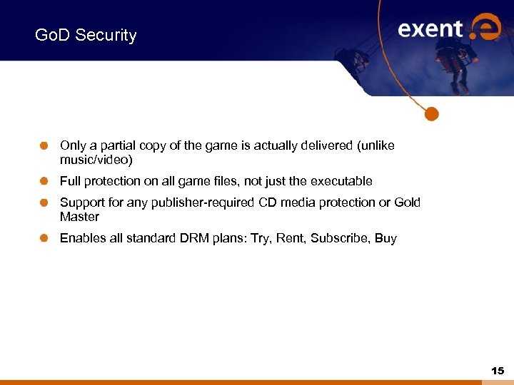 Go. D Security Only a partial copy of the game is actually delivered (unlike