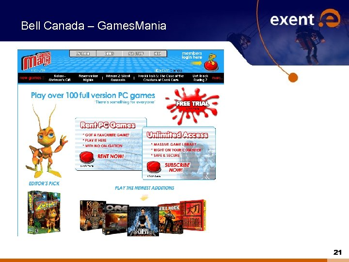 Bell Canada – Games. Mania 21