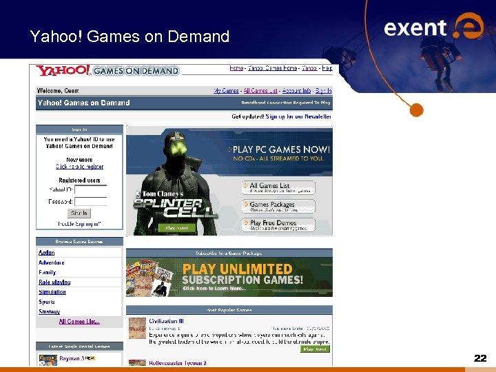 Yahoo! Games on Demand 22