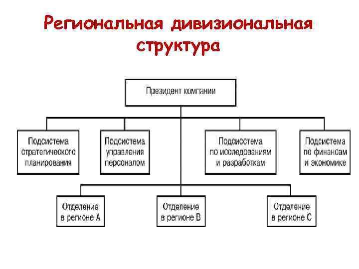 Региональная дивизиональная структура
