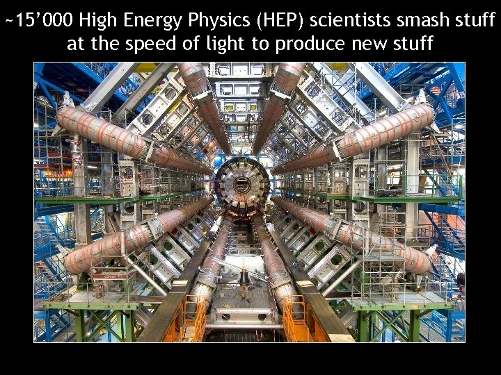 ~15' 000 High Energy Physics (HEP) scientists smash stuff at the speed of light