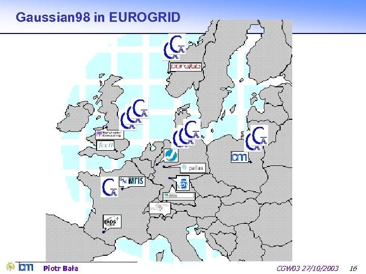 Gaussian 98 in EUROGRID Piotr Bała CGW 03 27/10/2003 16