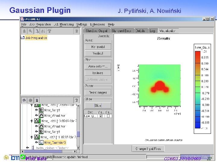 Gaussian Plugin Piotr Bała J. Pytliński, A. Nowiński CGW 03 27/10/2003 22
