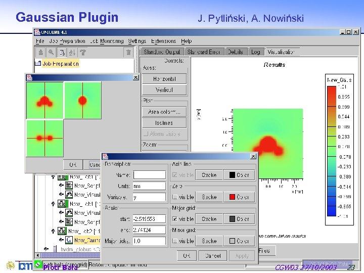 Gaussian Plugin Piotr Bała J. Pytliński, A. Nowiński CGW 03 27/10/2003 23