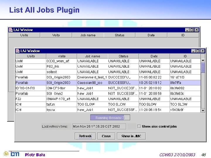 List All Jobs Plugin Piotr Bała CGW 03 27/10/2003 46