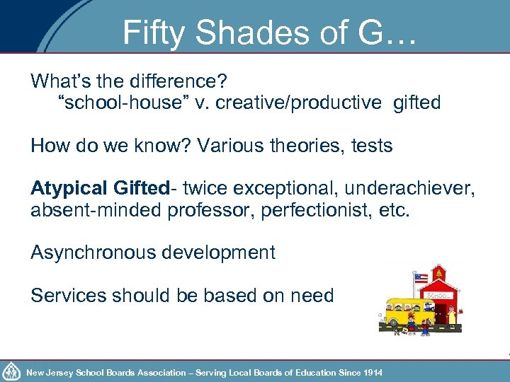 "Fifty Shades of G… What's the difference? ""school-house"" v. creative/productive gifted How do we"