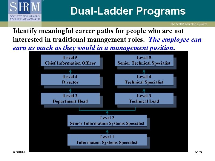 Dual-Ladder Programs Identify meaningful career paths for people who are not interested in traditional