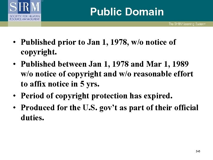 Public Domain • Published prior to Jan 1, 1978, w/o notice of copyright. •