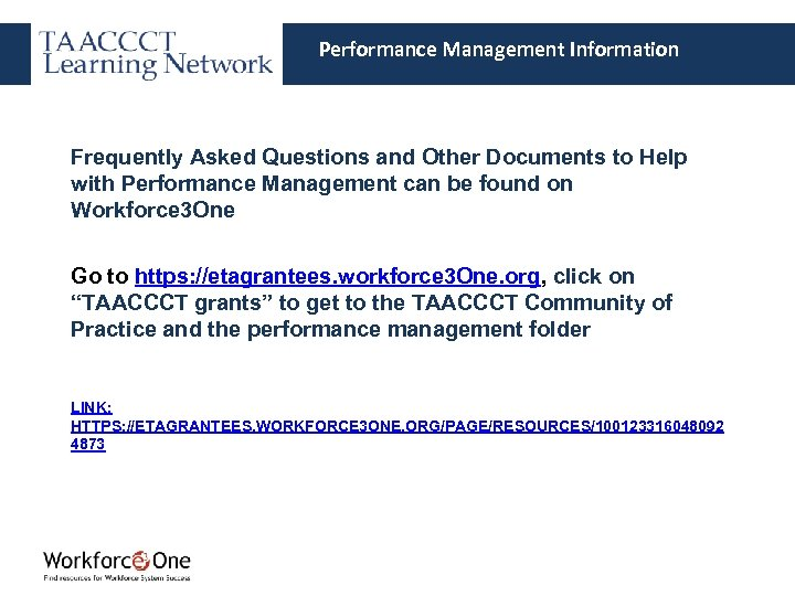 Performance Management Information Frequently Asked Questions and Other Documents to Help with Performance Management