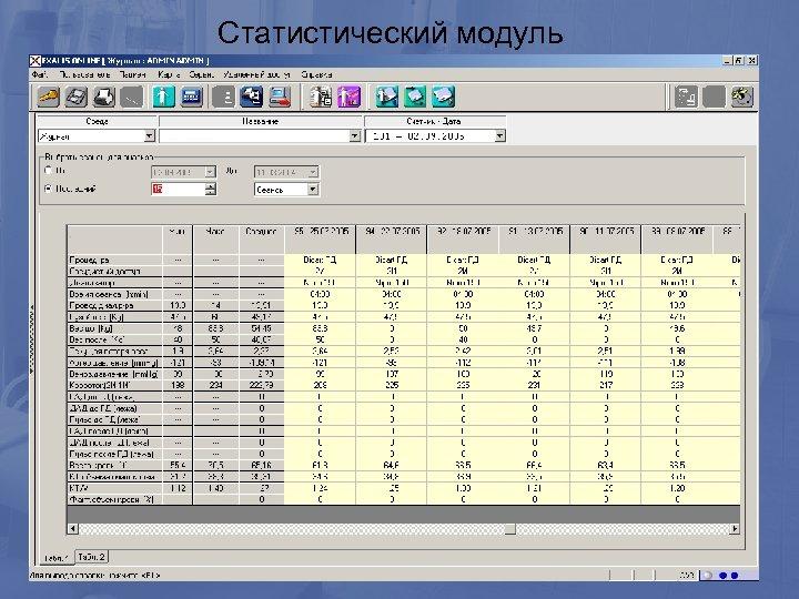 Статистический модуль