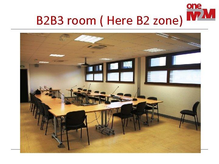B 2 B 3 room ( Here B 2 zone)