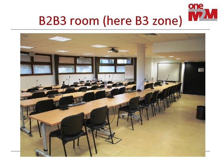 B 2 B 3 room (here B 3 zone)