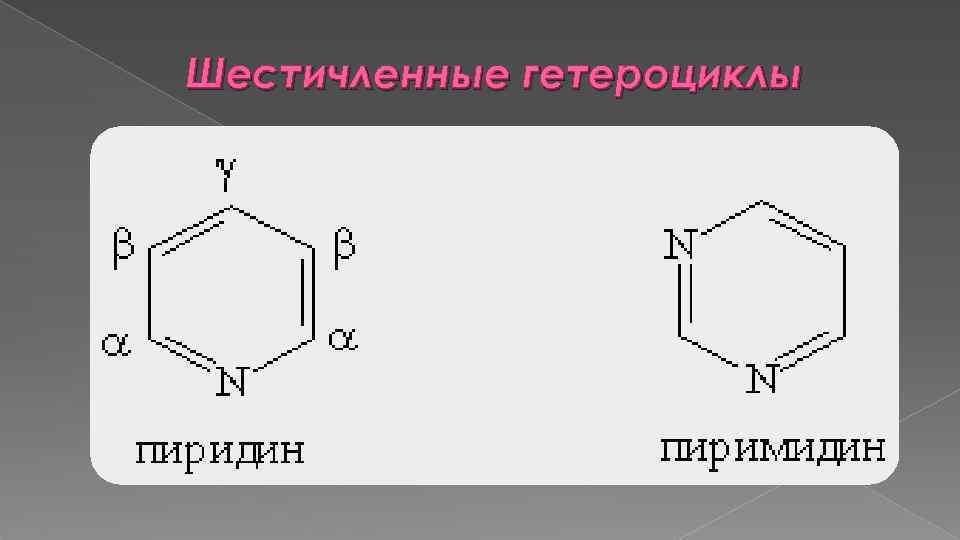 Шестичленные гетероциклы