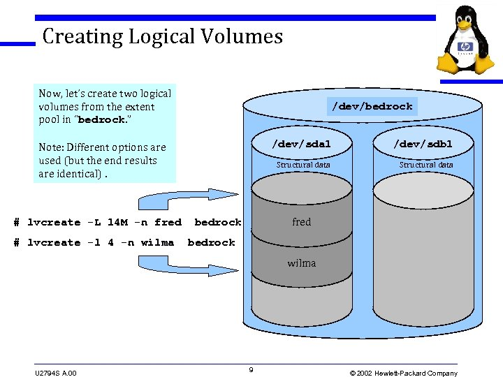 Creating Logical Volumes Now, let's create two logical volumes from the extent pool in