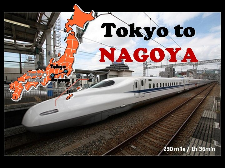 Tokyo Kyoto Osaka Tokyo to NAGOYA Nagoya 230 mile / 1 h 36 min