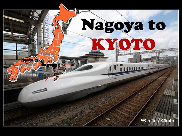 Tokyo Kyoto Osaka Nagoya to KYOTO Nagoya 93 mile / 44 min