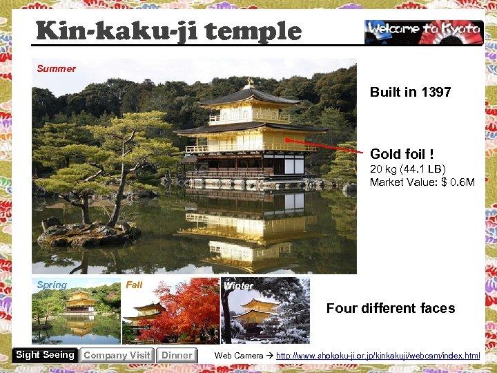 Kin-kaku-ji temple Summer Built in 1397 Gold foil ! 20 kg (44. 1 LB)