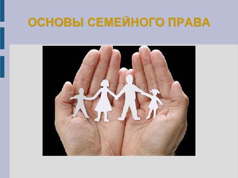 основные семейные права в рф