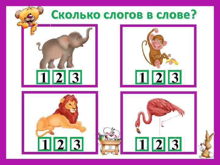 картинки сколько слогов в каждом слове все лицо или