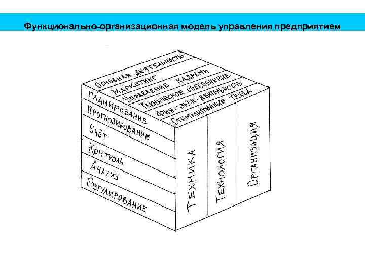 Функционально-организационная модель управления предприятием