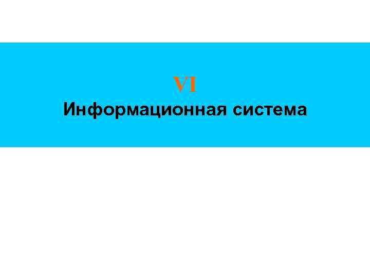VI Информационная система
