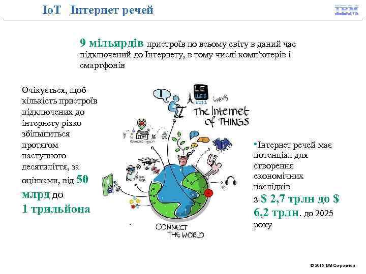 Io. T Інтернет речей 9 мільярдів пристроїв по всьому світу в даний час підключений