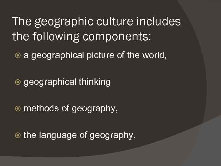 an introduction to the geography and culture of mauritania Studies the relationships between space, place, environment, and culture it examines how culture is expressed and symbolized in the landscapes we see around us, including homes, commercial buildings, roads, and agricultural patterns.