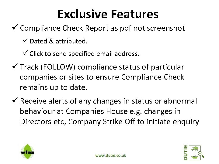 Exclusive Features ü Compliance Check Report as pdf not screenshot ü Dated & attributed.