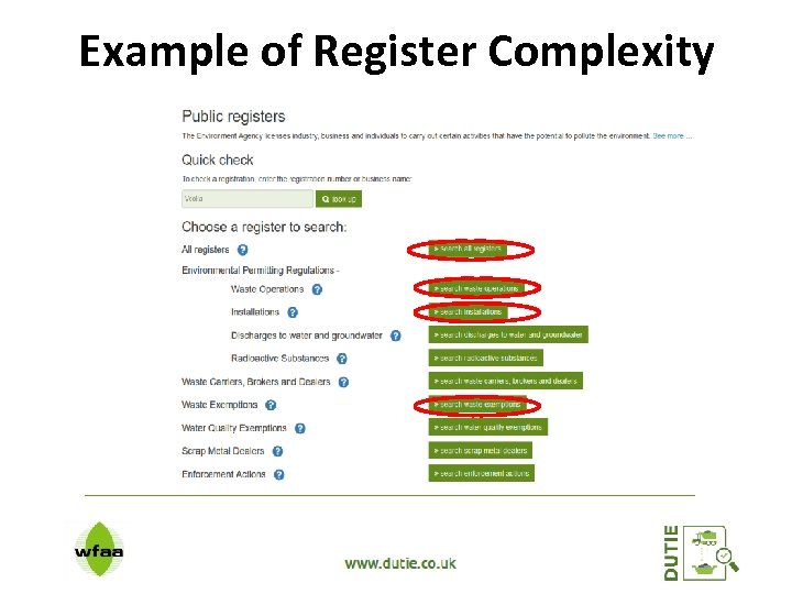 Example of Register Complexity