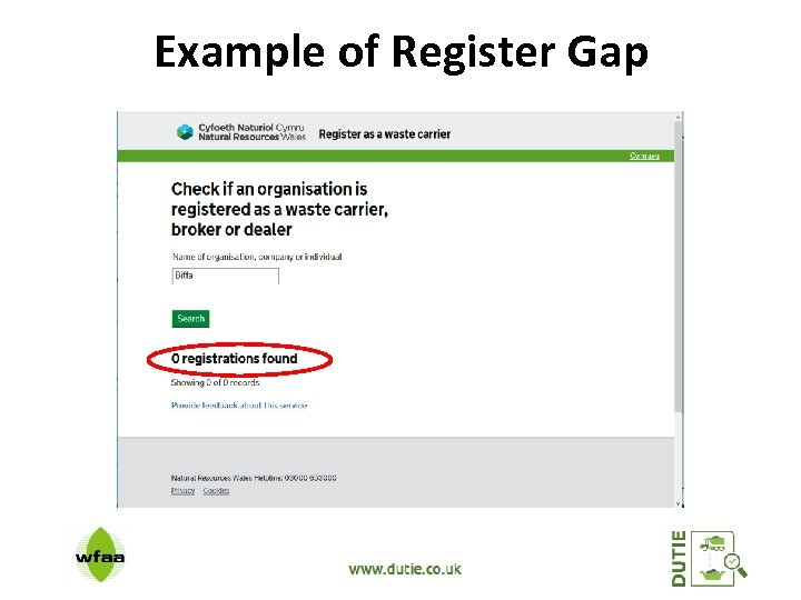 Example of Register Gap