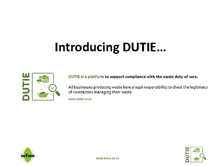 Introducing DUTIE…