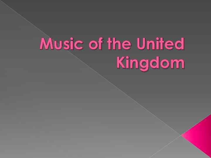 Music of the United Kingdom