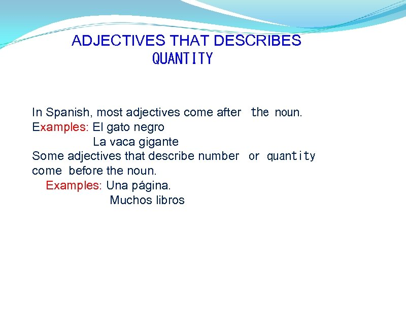 ADJECTIVES THAT DESCRIBES 