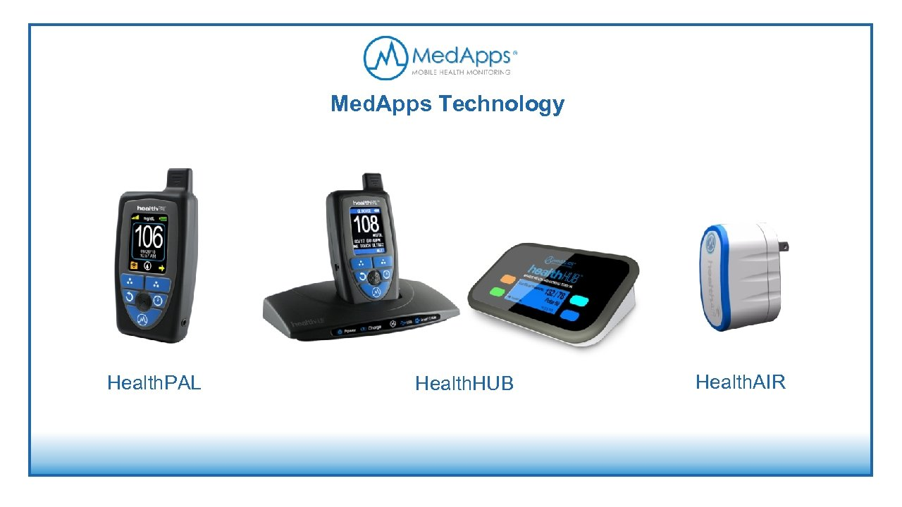 Med. Apps Technology Health. PAL Health. HUB Health. AIR