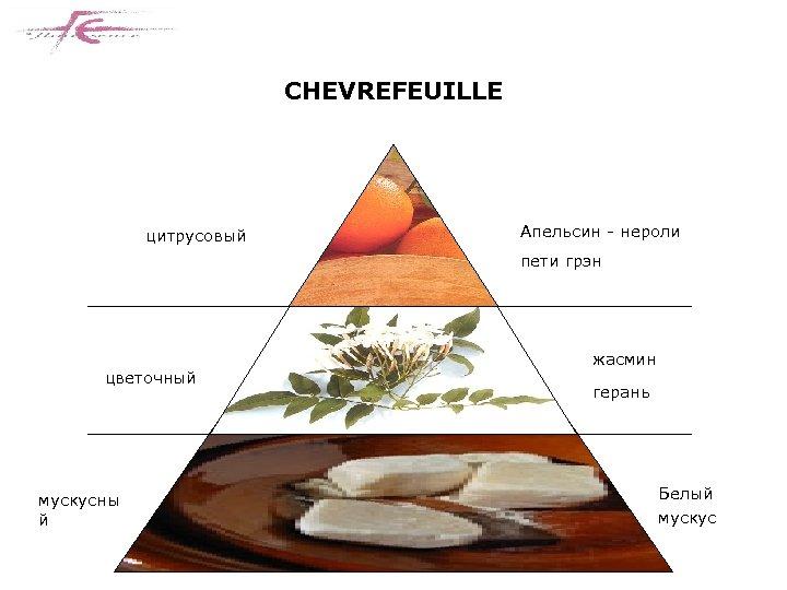 CHEVREFEUILLE цитрусовый Апельсин - нероли пети грэн цветочный мускусны й жасмин герань Белый мускус