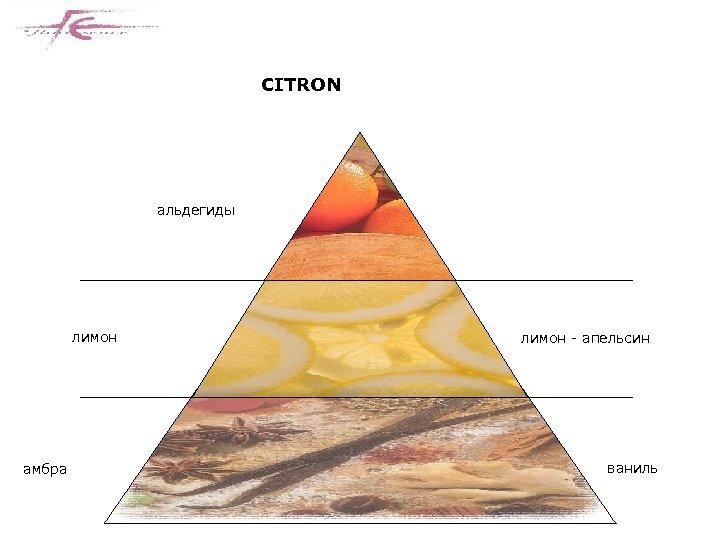 CITRON альдегиды лимон амбра лимон - апельсин ваниль