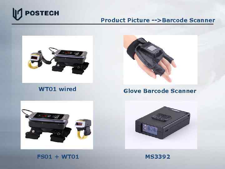Product Picture -->Barcode Scanner WT 01 wired FS 01 + WT 01 Glove Barcode