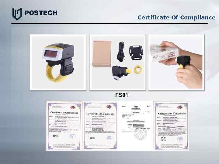 Certificate Of Compliance FS 01