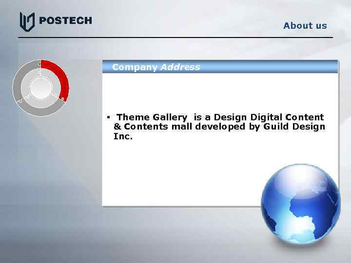 About us Company Address § Theme Gallery is a Design Digital Content & Contents