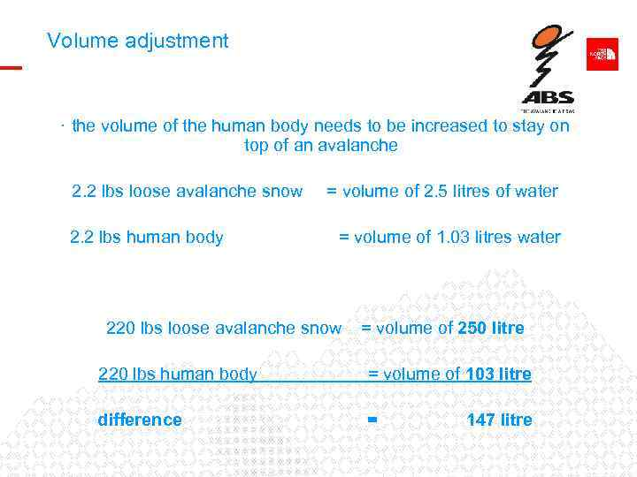 Volume adjustment · the volume of the human body needs to be increased to