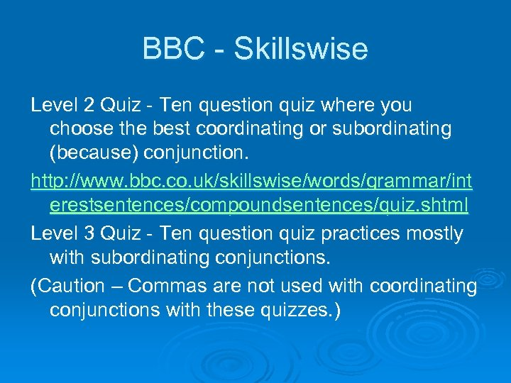 BBC - Skillswise Level 2 Quiz - Ten question quiz where you choose the