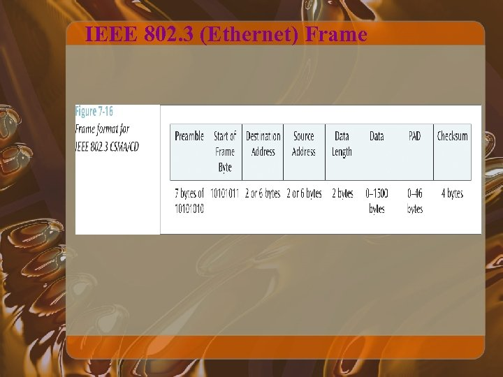 IEEE 802. 3 (Ethernet) Frame