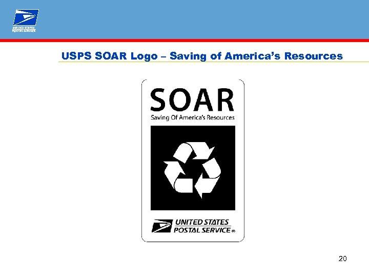 USPS SOAR Logo – Saving of America's Resources 20