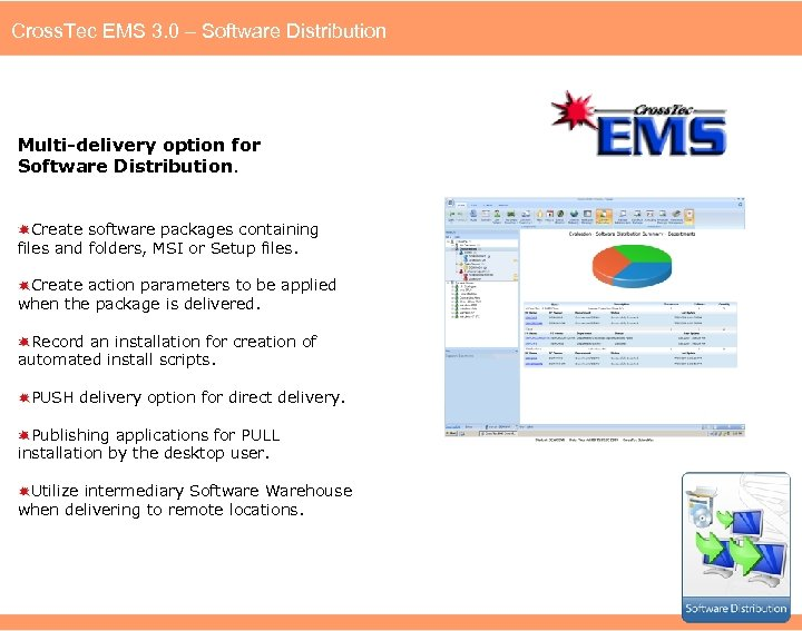 Cross. Tec EMS 3. 0 – Software Distribution Multi-delivery option for Software Distribution. Create
