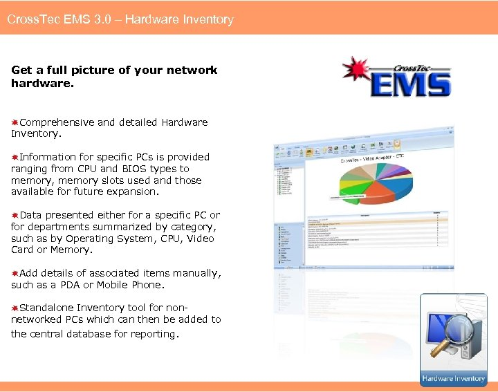 Cross. Tec EMS 3. 0 – Hardware Inventory Get a full picture of your