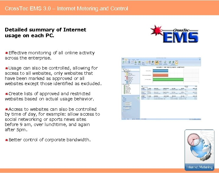 Cross. Tec EMS 3. 0 – Internet Metering and Control Detailed summary of Internet