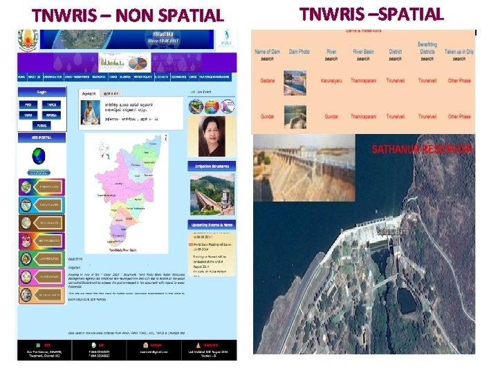TNWRIS – NON SPATIAL TNWRIS –SPATIAL