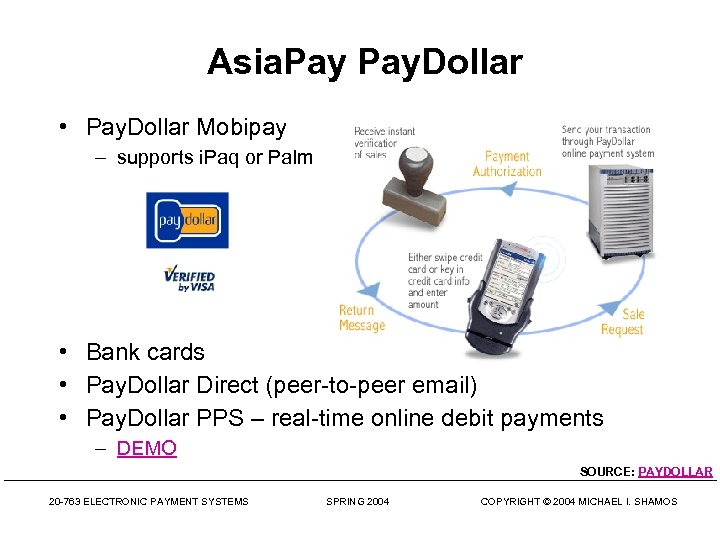 Asia. Pay. Dollar • Pay. Dollar Mobipay – supports i. Paq or Palm •